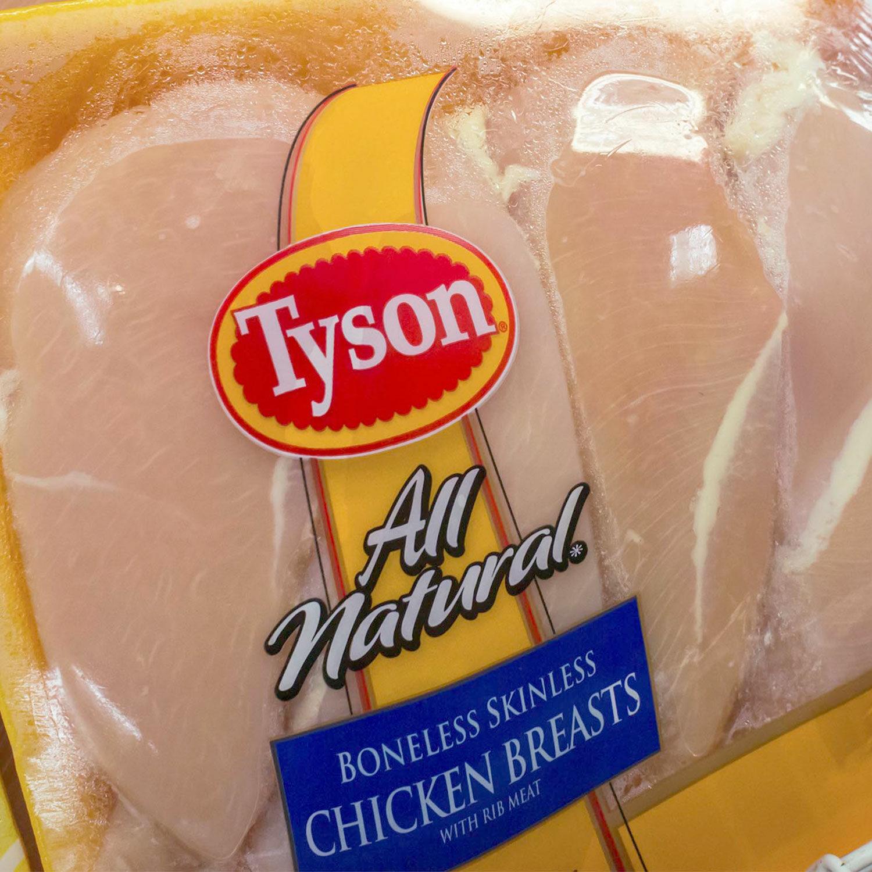 Tyson brand chicken breasts